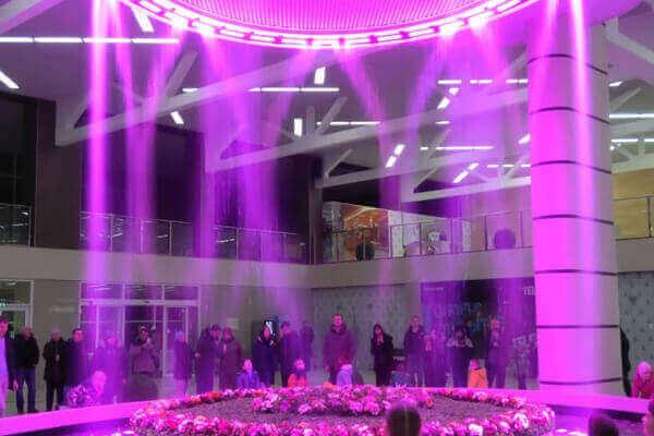 Крупногабаритный цифровой фонтан